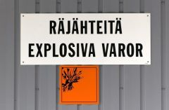 Räjähteiden varastointi